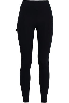 SÀPOPA Layered coated mesh and stretch leggings