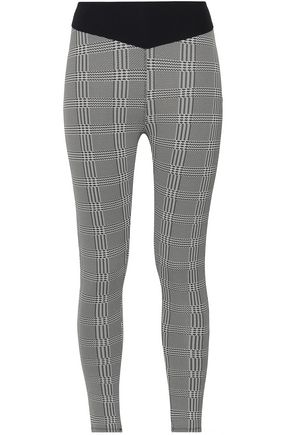 SÀPOPA Paneled checked stretch leggings