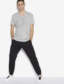 ARMANI EXCHANGE REGULAR-FIT REPEAT LOGO V-NECK Logo T-shirt [*** pickupInStoreShippingNotGuaranteed_info ***] d