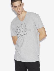 ARMANI EXCHANGE REGULAR-FIT REPEAT LOGO V-NECK Logo T-shirt [*** pickupInStoreShippingNotGuaranteed_info ***] f
