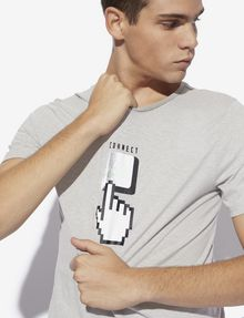 ARMANI EXCHANGE SLIM-FIT DIGITAL CONNECTION CREW Graphic T-shirt [*** pickupInStoreShippingNotGuaranteed_info ***] a