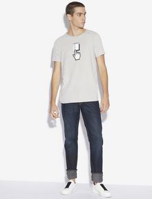 ARMANI EXCHANGE SLIM-FIT DIGITAL CONNECTION CREW Graphic T-shirt [*** pickupInStoreShippingNotGuaranteed_info ***] d