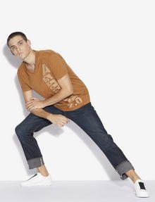 ARMANI EXCHANGE REGULAR-FIT 2.0 LOGO V-NECK TEE Graphic T-shirt [*** pickupInStoreShippingNotGuaranteed_info ***] a