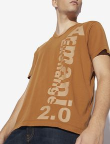 ARMANI EXCHANGE REGULAR-FIT 2.0 LOGO V-NECK TEE Graphic T-shirt [*** pickupInStoreShippingNotGuaranteed_info ***] b