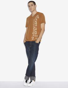 ARMANI EXCHANGE REGULAR-FIT 2.0 LOGO V-NECK TEE Graphic T-shirt [*** pickupInStoreShippingNotGuaranteed_info ***] d