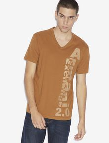 ARMANI EXCHANGE REGULAR-FIT 2.0 LOGO V-NECK TEE Graphic T-shirt [*** pickupInStoreShippingNotGuaranteed_info ***] f