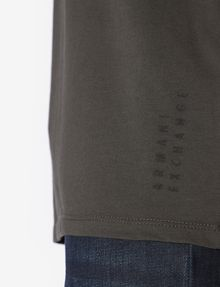 ARMANI EXCHANGE REGULAR-FIT REPEAT LOGO V-NECK Logo T-shirt [*** pickupInStoreShippingNotGuaranteed_info ***] b