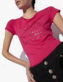 ARMANI EXCHANGE METALLIC DEGRADE LOGO CREW Logo T-shirt [*** pickupInStoreShipping_info ***] a