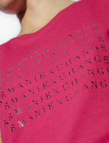 ARMANI EXCHANGE METALLIC DEGRADE LOGO CREW Logo T-shirt [*** pickupInStoreShipping_info ***] b