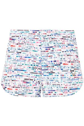 LUCAS HUGH Glitch printed scuba shorts