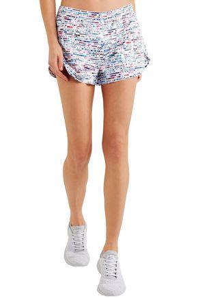 LUCAS HUGH Printed shell shorts