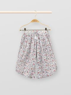 Flower-print culottes