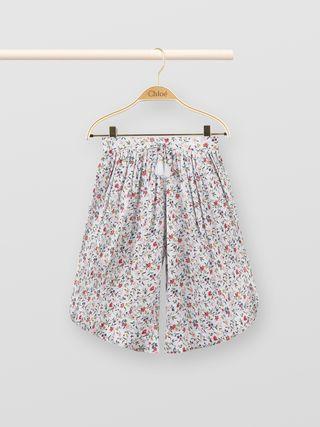 Flower-print culottes