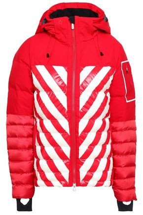 PERFECT MOMENT Striped quilted shell down jacket