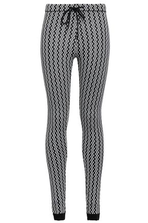 PERFECT MOMENT Merino wool jacquard leggings