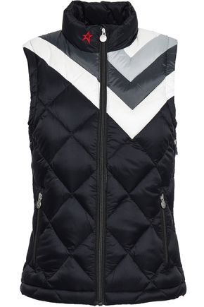 PERFECT MOMENT Quilted color-block shell vest