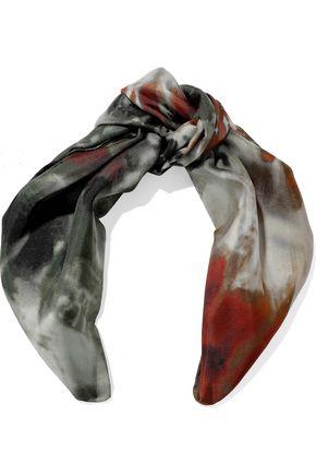 VALENTINO Tie-dye silk-satin twill scarf
