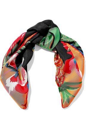 VALENTINO GARAVANI Floral-print silk-twill scarf