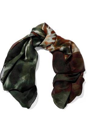 VALENTINO Tie-dye silk-chiffon scarf