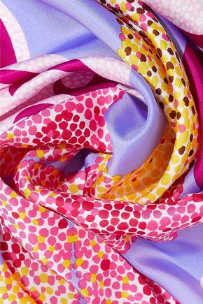 DIANE VON FURSTENBERG Printed silk-twill scarf