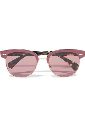 f65552aff39 OLIVER PEOPLES D-frame tortoiseshell acetate and gold-tone sunglasses