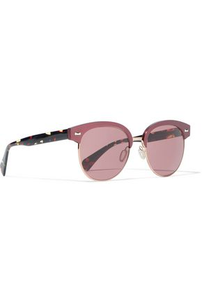 OLIVER PEOPLES D-frame tortoiseshell acetate and gold-tone sunglasses