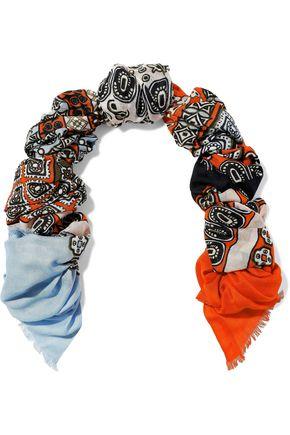 DIANE VON FURSTENBERG Printed modal and cashmere-blend scarf