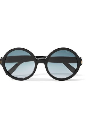 TOM FORD Juliet round-frame acetate sunglasses