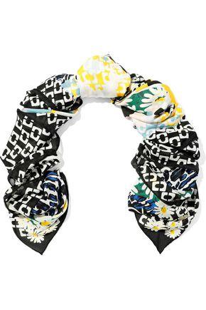 DIANE VON FURSTENBERG Printed silk-chiffon scarf