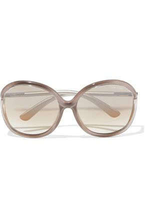 TOM FORD Miranda oversized round-frame acetate sunglasses