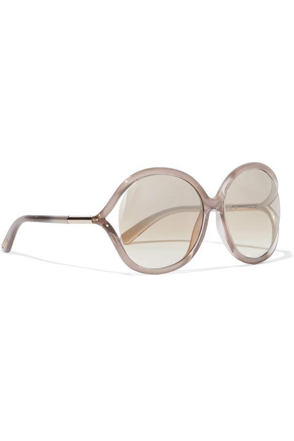 be3a243f7878 Miranda oversized round-frame acetate sunglasses