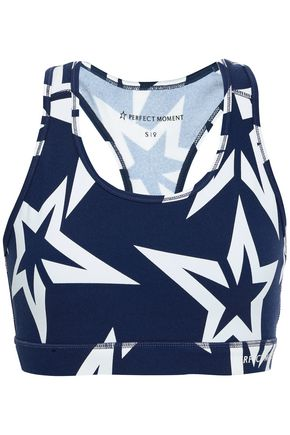 PERFECT MOMENT Printed stretch sports bra