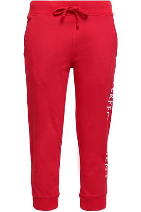 PERFECT MOMENT Cropped cotton track pants