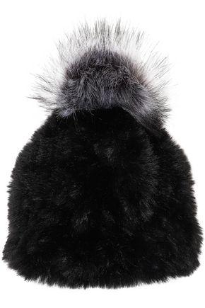 SURELL Faux fur beanie