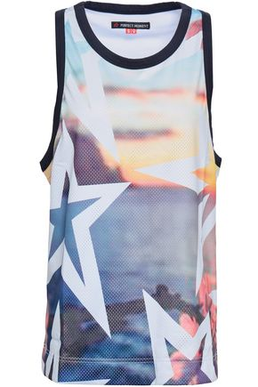 PERFECT MOMENT Printed mesh tank