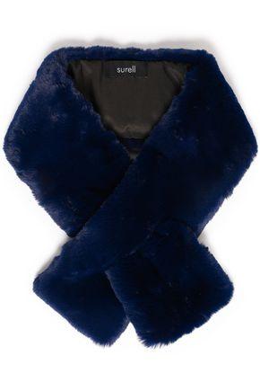 SURELL Faux fur scarf