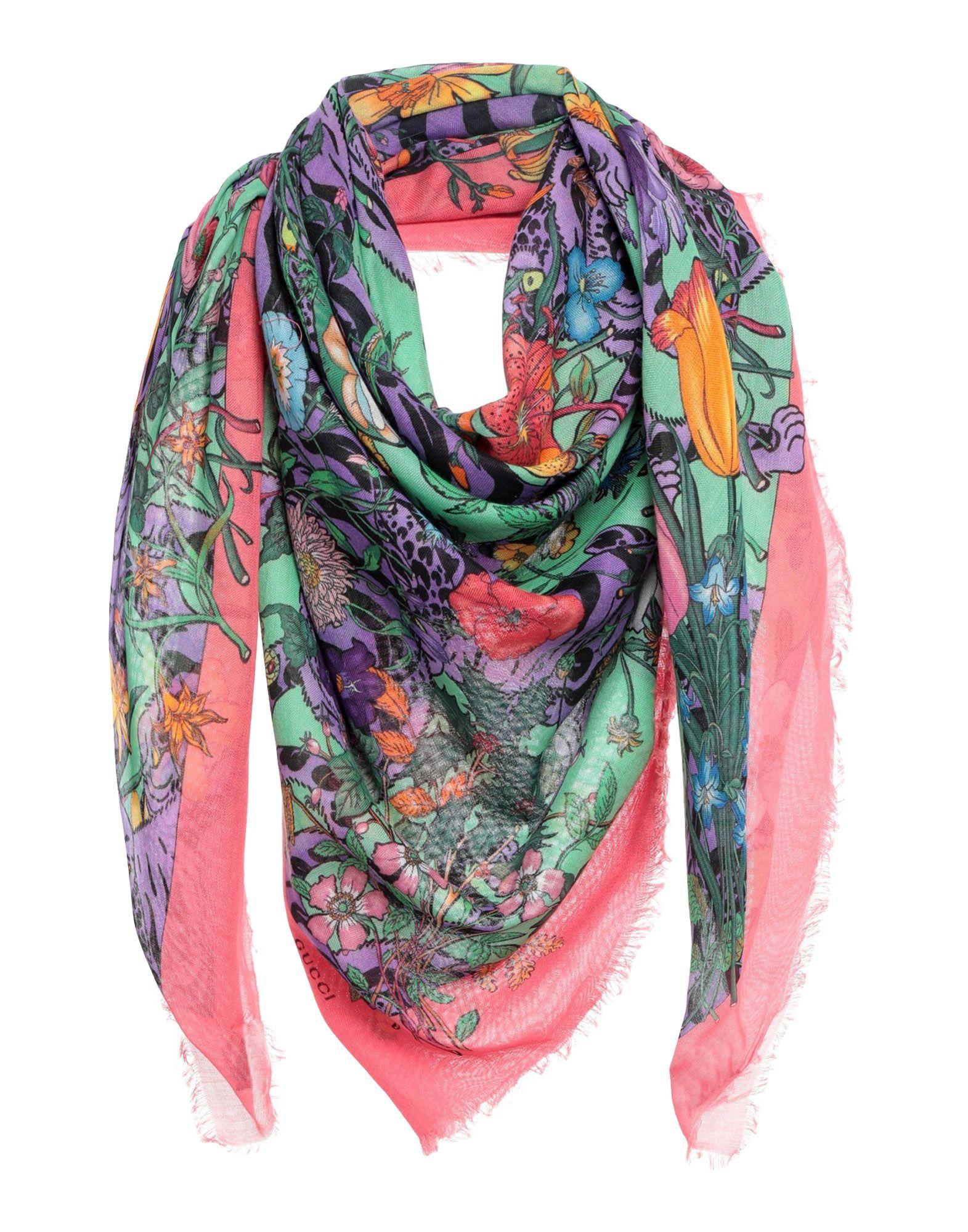 GUCCI Платок gucci шелковый платок с цветами