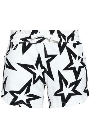 PERFECT MOMENT Printed French cotton-terry shorts