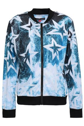 PERFECT MOMENT Printed mesh jacket