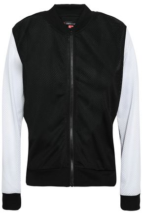 PERFECT MOMENT Two-tone mesh jacket