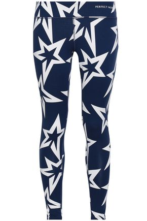 PERFECT MOMENT Cropped printed stretch leggings