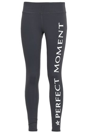PERFECT MOMENT Printed stretch leggings
