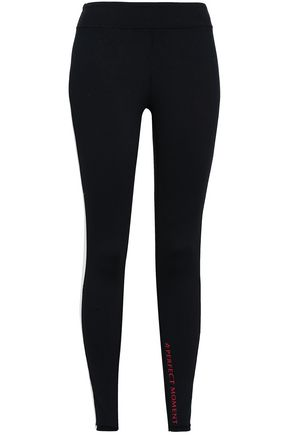 PERFECT MOMENT Two-tone stretch leggings