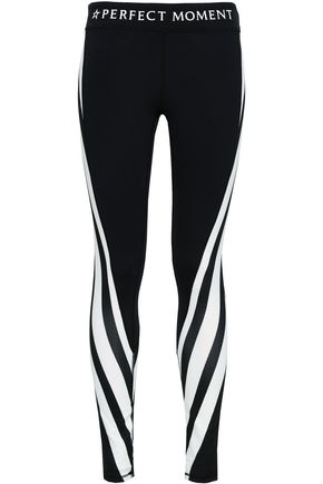 PERFECT MOMENT Striped stretch leggings