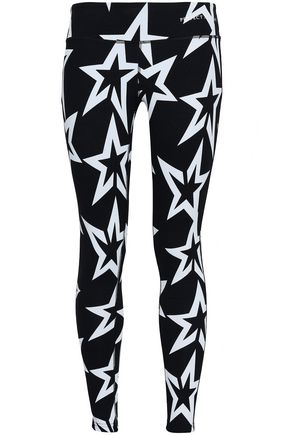 PERFECT MOMENT Printed French terry leggings