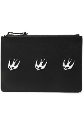 McQ Alexander McQueen Appliquéd leather pouch