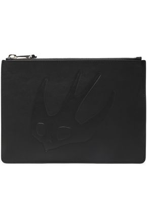 McQ Alexander McQueen Embossed leather pouch