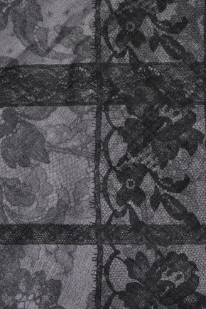 VALENTINO Frayed floral-print cashmere and silk-blend scarf