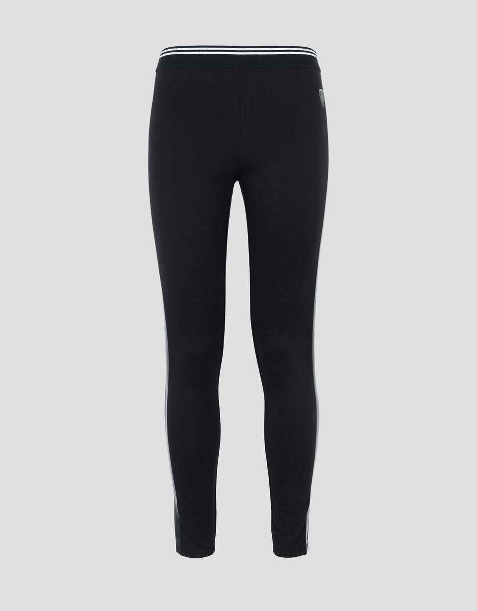 Scuderia Ferrari Online Store - Women's leggings with side stripes in PVC -