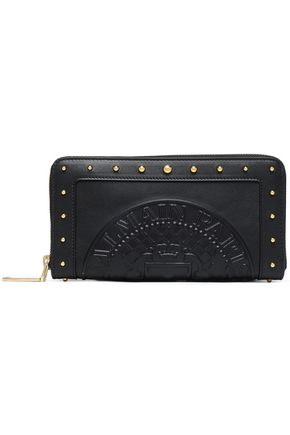 BALMAIN Studded embossed leather wallet
